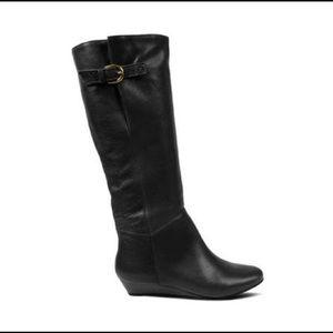 Steven Madden INCCA wedge boots black leather